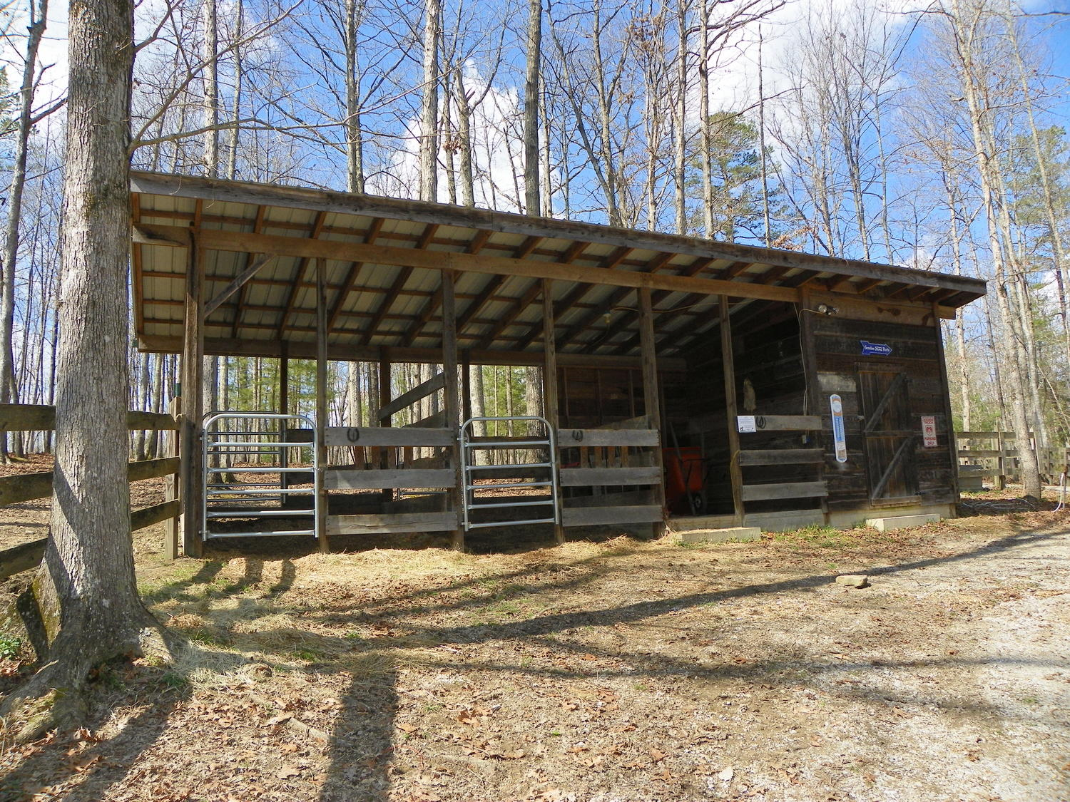 cabin with horse stall