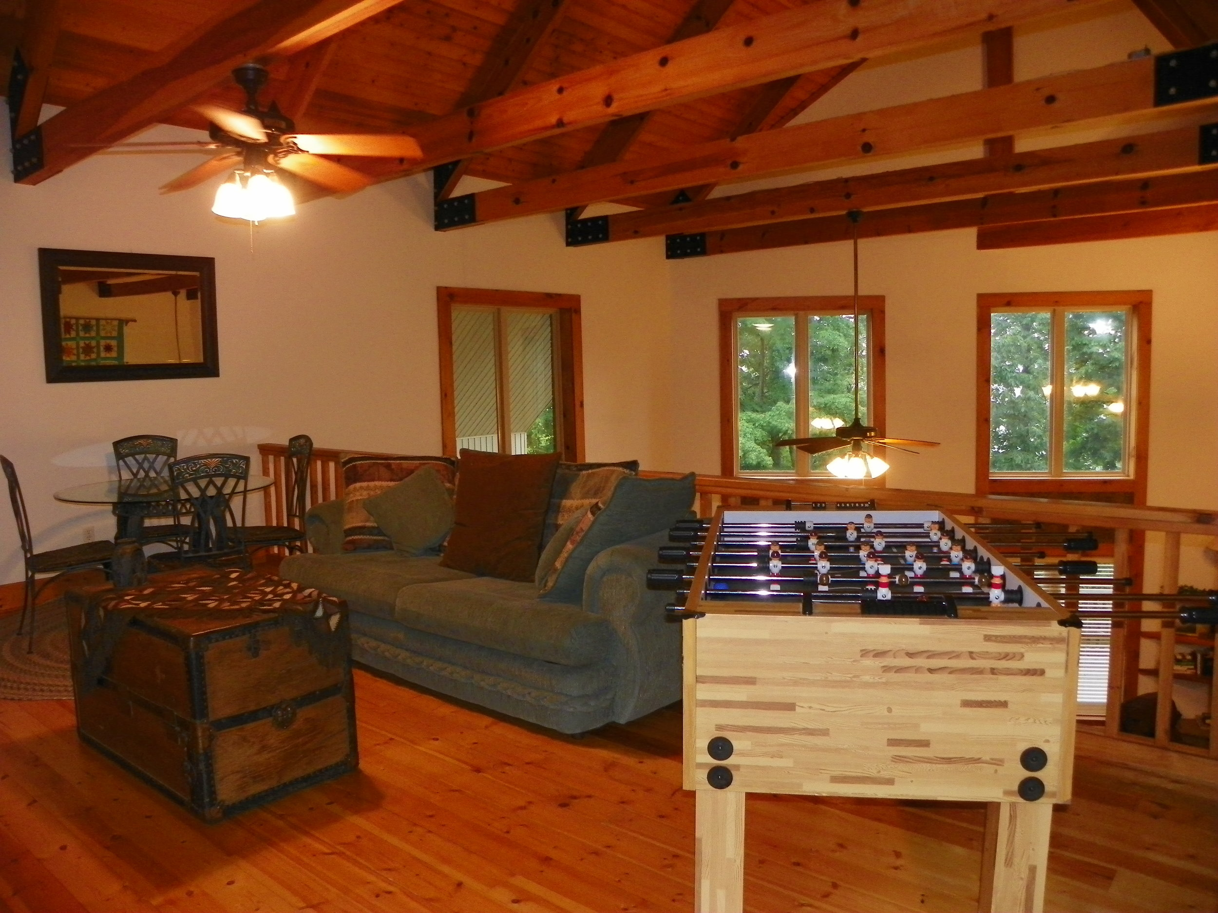 foosball table at Pointe View Lodge