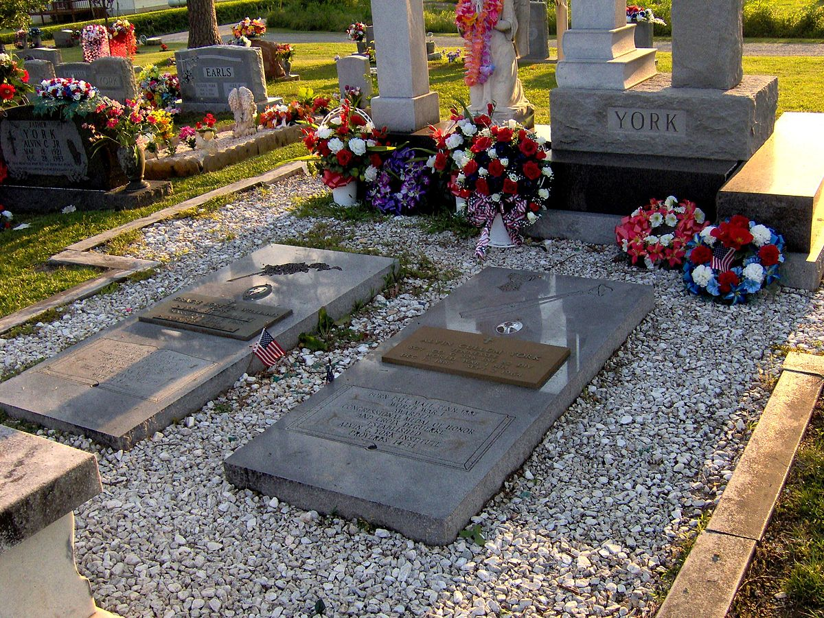 Burial site of Alvin C. York at Wolf River Cemetery