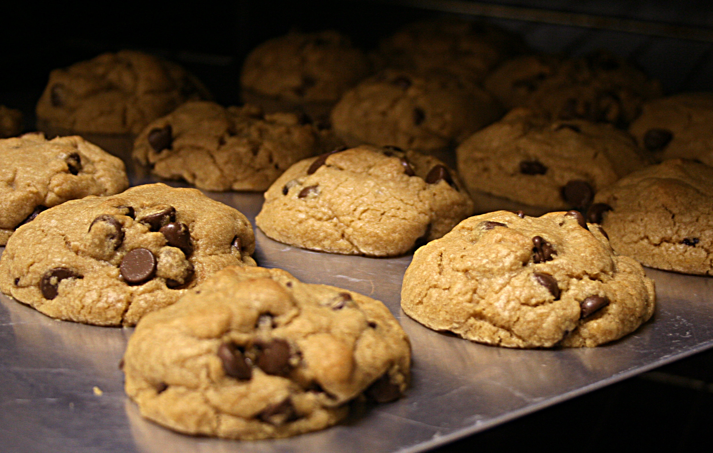 baking cookies in the oven