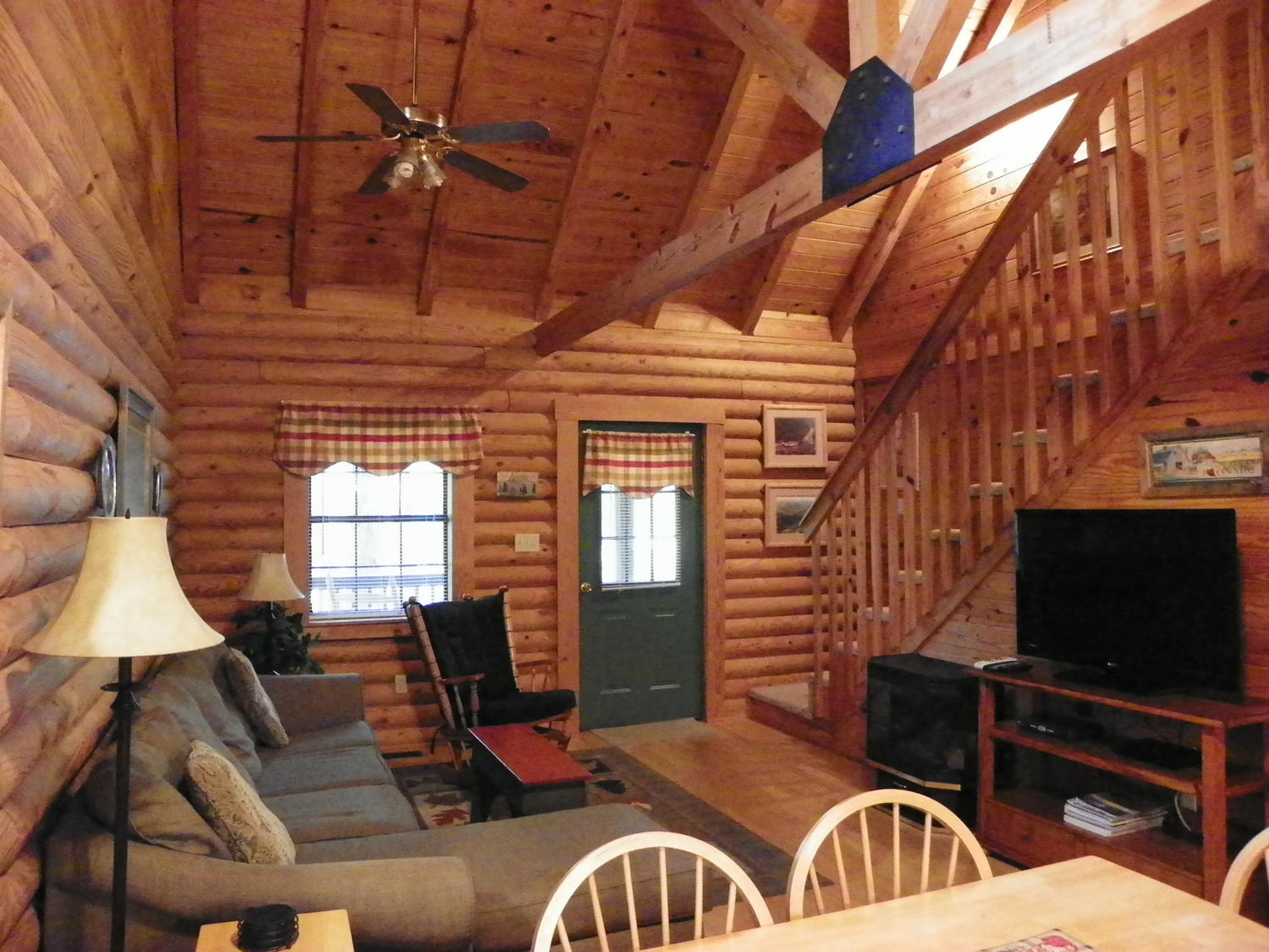 cabin living room for lounging around