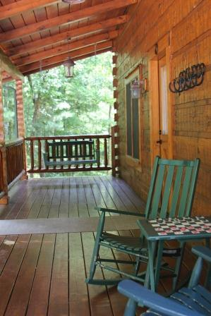 Enjoy a game a checkers on Second Nest front porch!