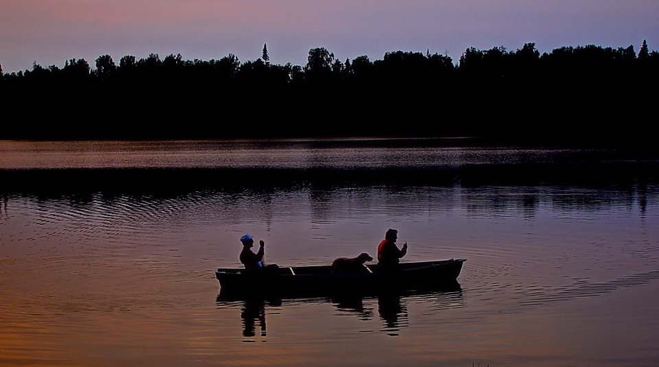 Canoeing in the early morning hours