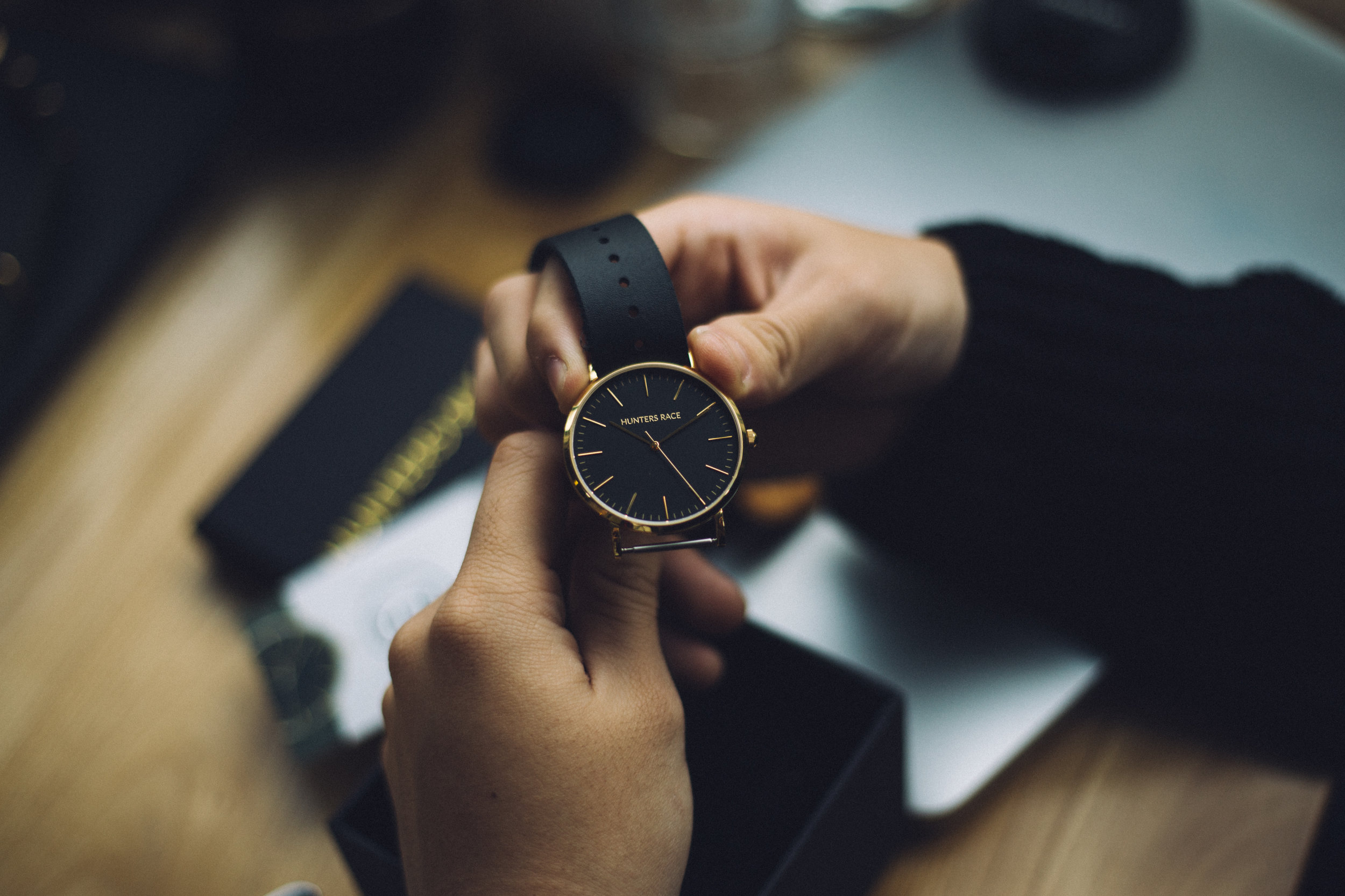 looking at watch to save yourself time
