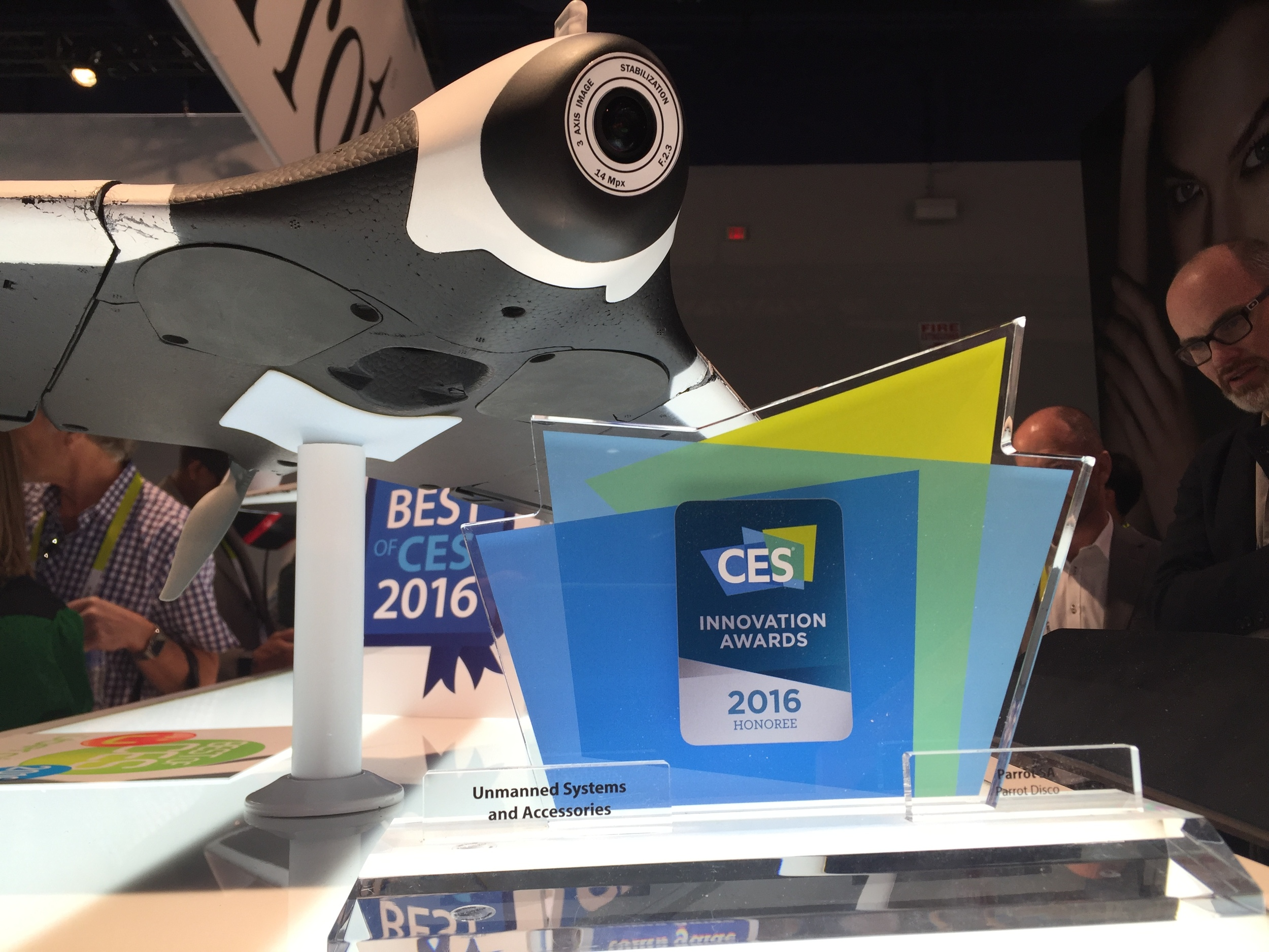 Parrot Disco: CES Innovation Award Honoree - Unmanned Systems and Accessories.