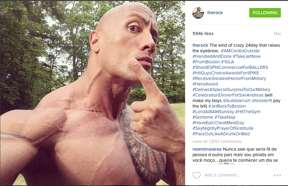 The Rock Eyebrow