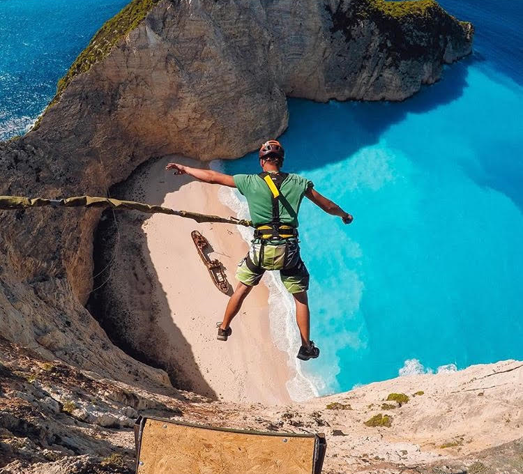 Bungeeing in Zakynthos Islands