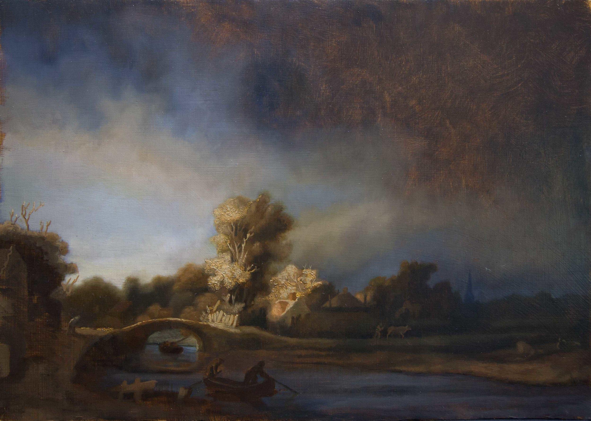 """""""Landscape Mastercopy After Rembrandt"""""""