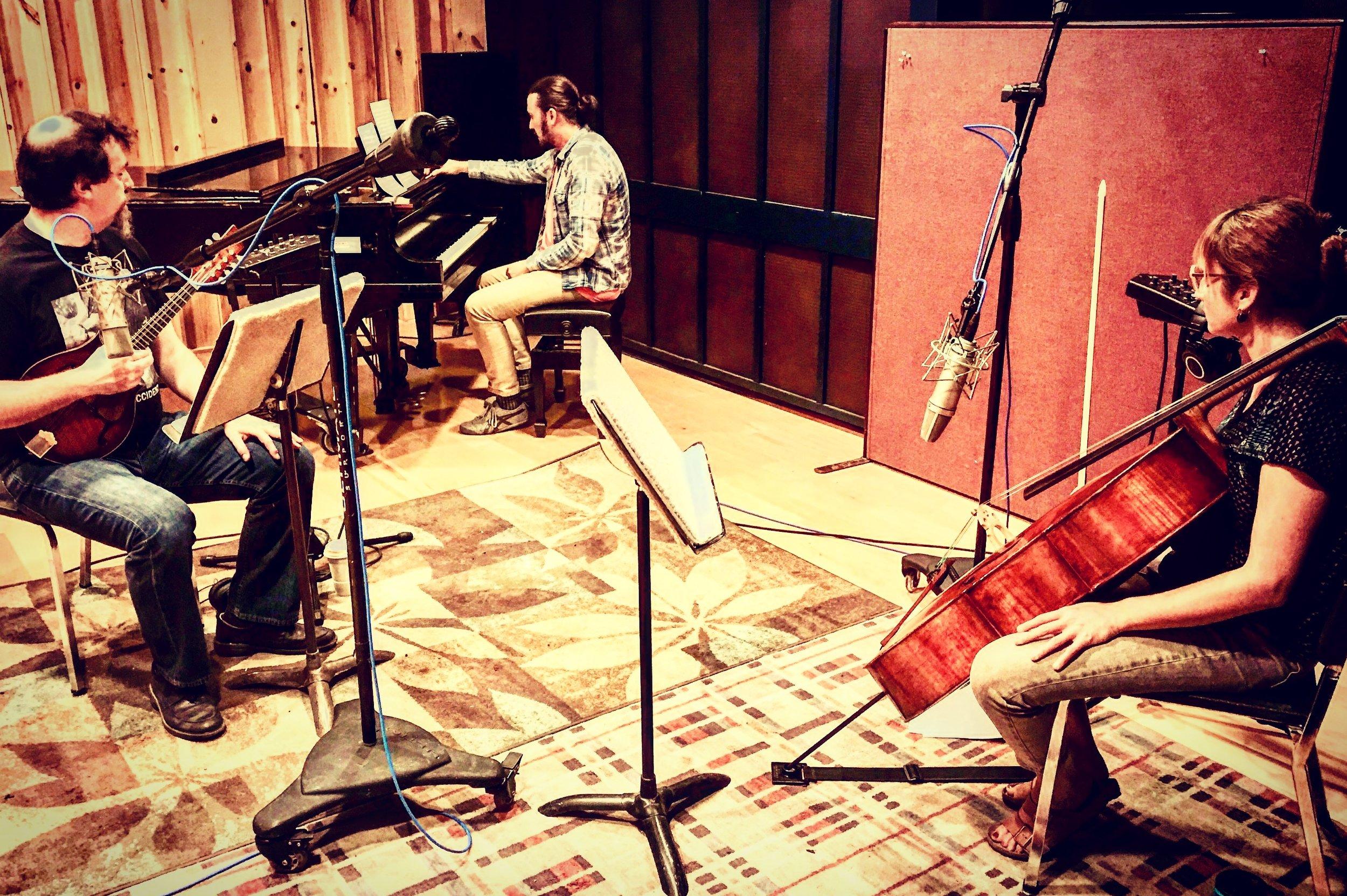 Recording session for Il Villaggio di Millbrook -