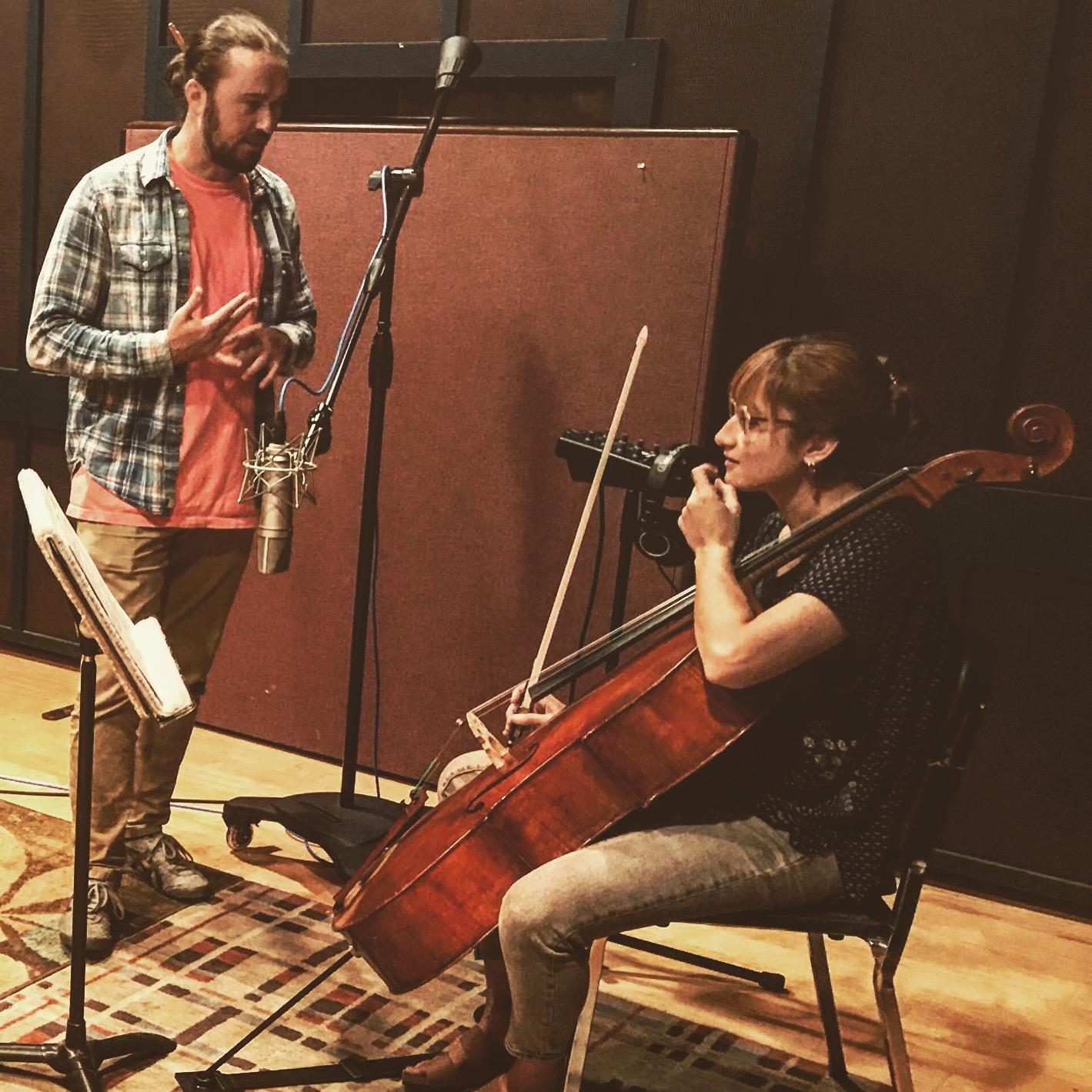 Composer Jon Robertson and Cellist Ezgi Karakus -