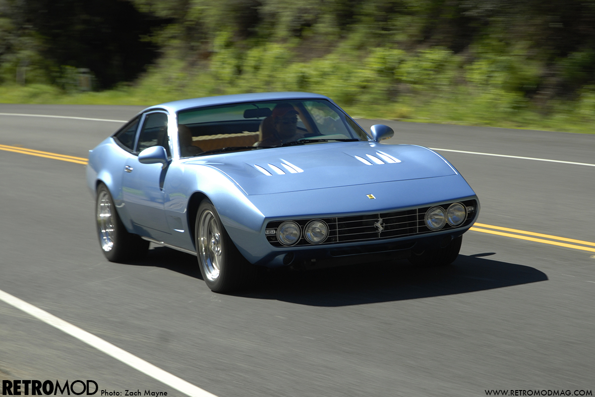 Ferrari 365 GTC/4 with rebuilt, high performance V12 engine
