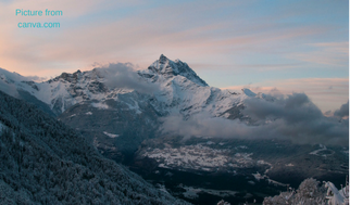 Picture of mountains from canva.com