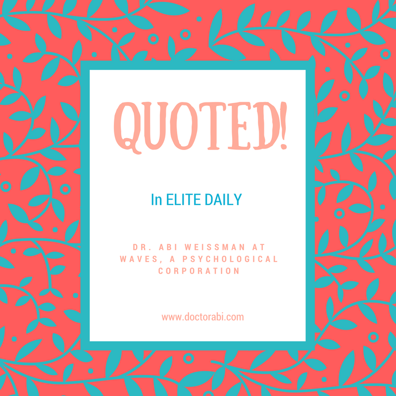 I'm quoted in Elite Daily! I'm so excited!