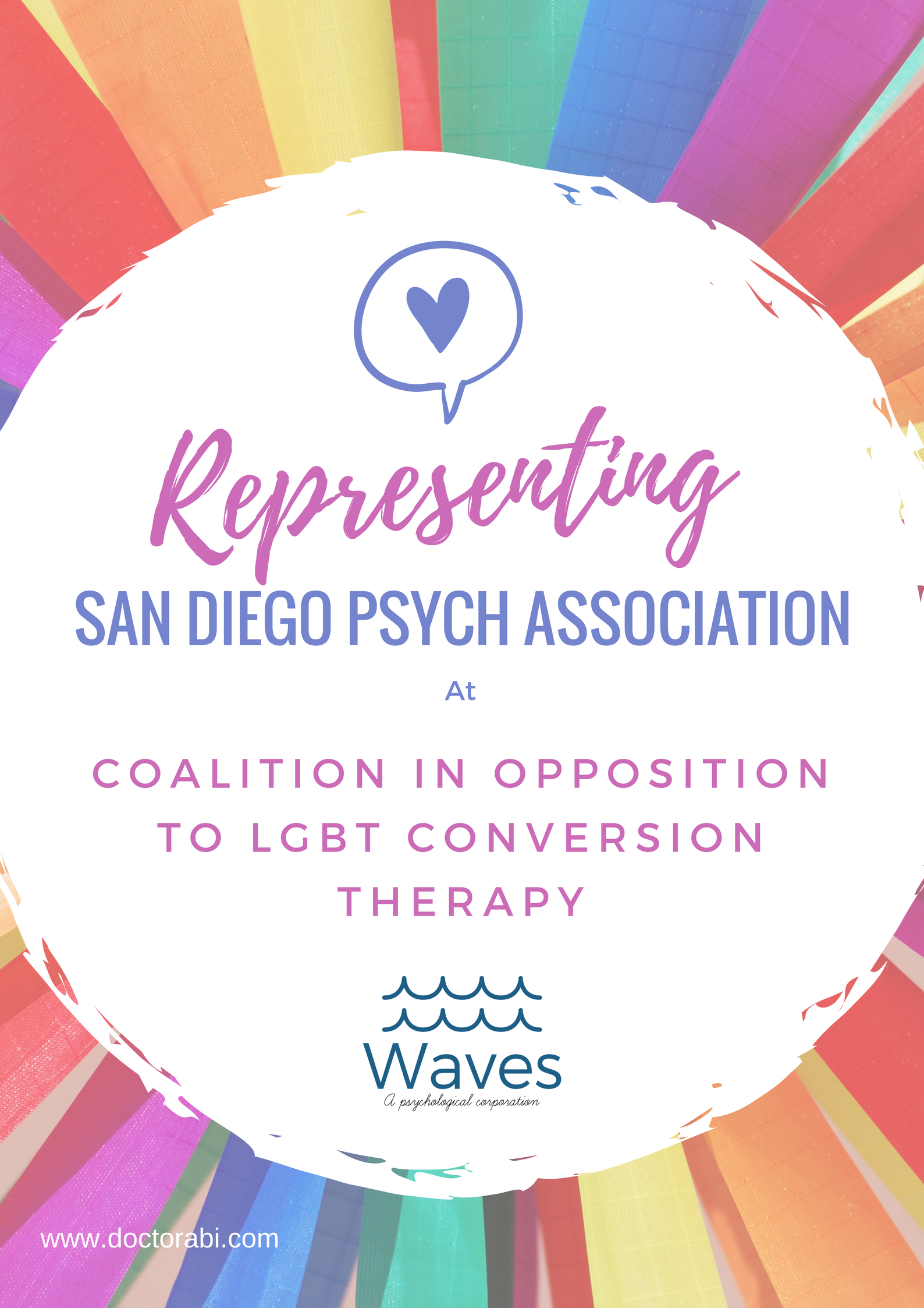 Representing San Diego Psych Association at Coalition in Opposition to LGBT Conversion Therapy Press Conference.