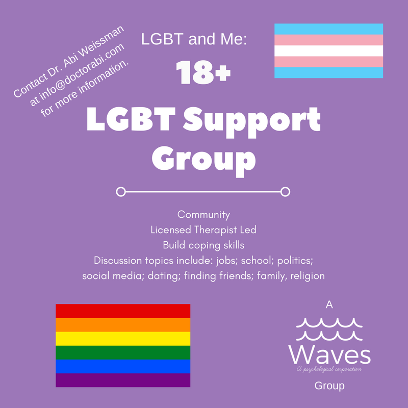 Waves' newLGBT & Me groupin Poway, CAwelcomes newparticipants! - We can't wait for you to join us!