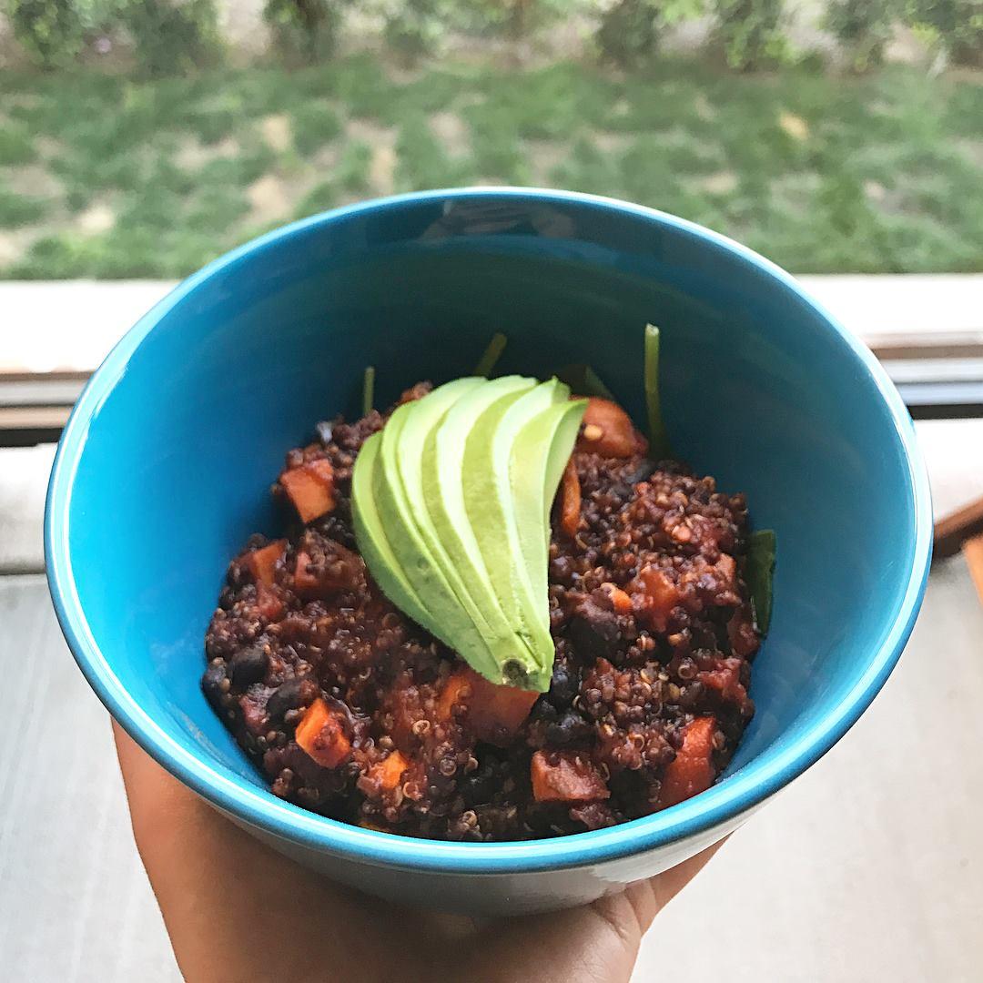 One Pot Mexican Quinoa Chili! I followed  this recipe .