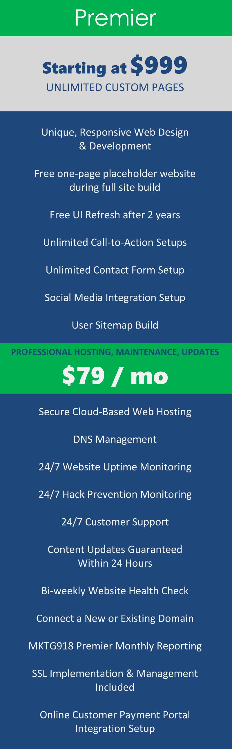 Premier Tulsa Web Design and management Package from MKTG 918