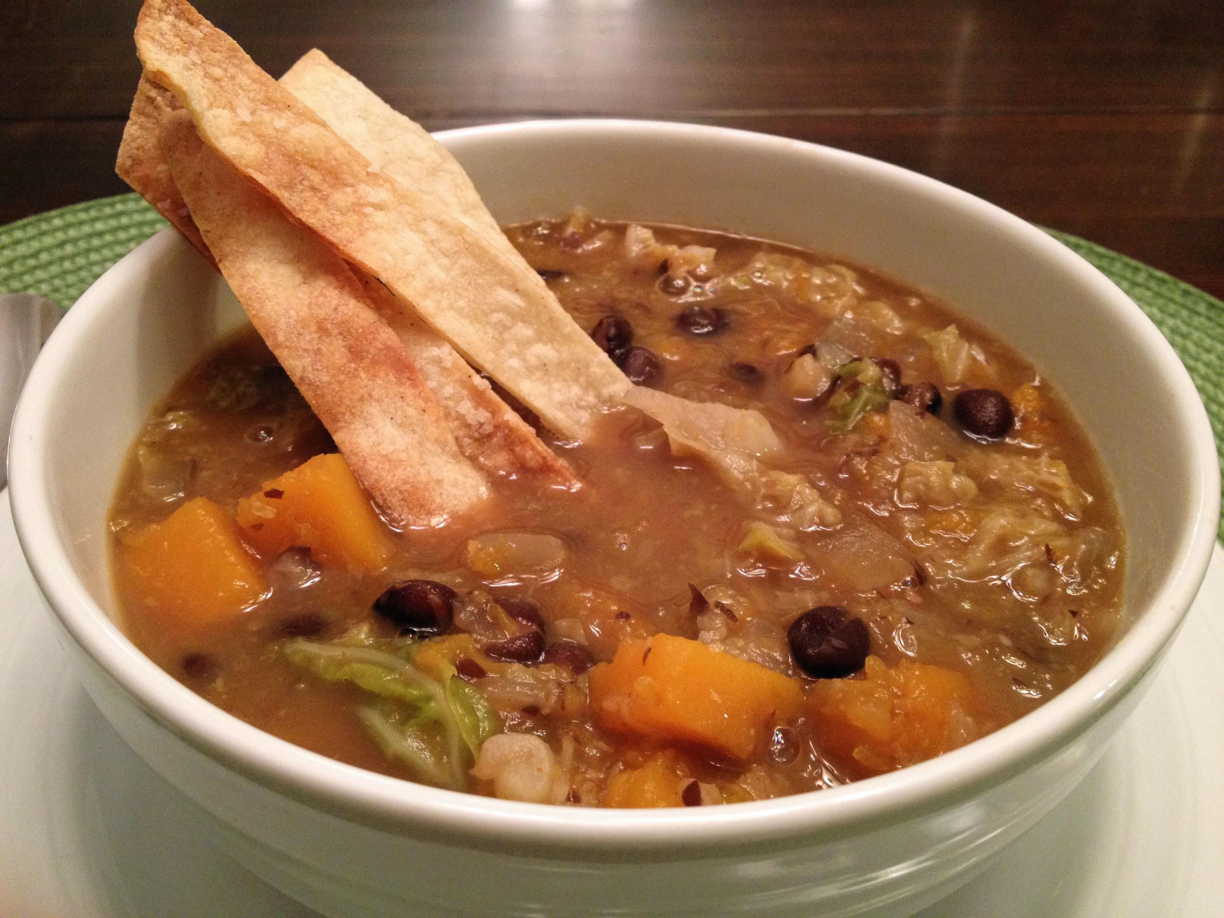 bean and butternut soup 2