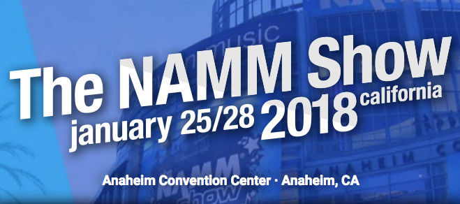 New location for 2018   - We'll be moving upstairs at NAMM this year - come see us at Booth 5226 in Hall D - we'll have a surprise or two!