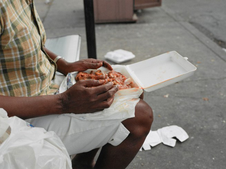 "New Orleans (Woman Eating), 2004, from ""A Shimmer of Possibility"""
