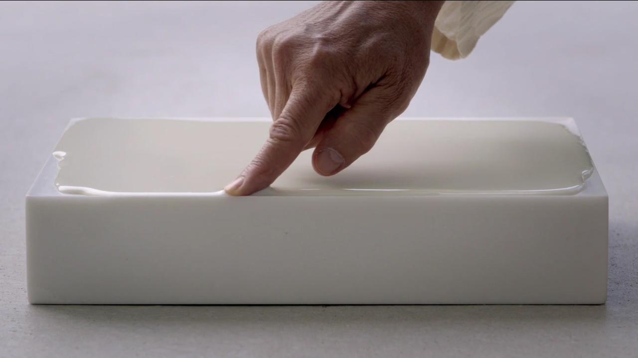 Wolfgang Laib, Milkstone, 2013, MoMA