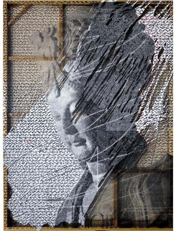 Cheng Yong, 无语的怀念十 ,软玻璃 丙烯绘画,250 X 180 cm.