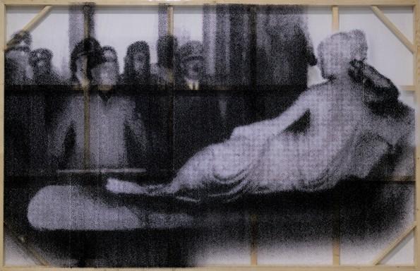 Cheng Yong,  博物馆  (2011),软玻璃 丙烯绘画,190 x 290 cm.