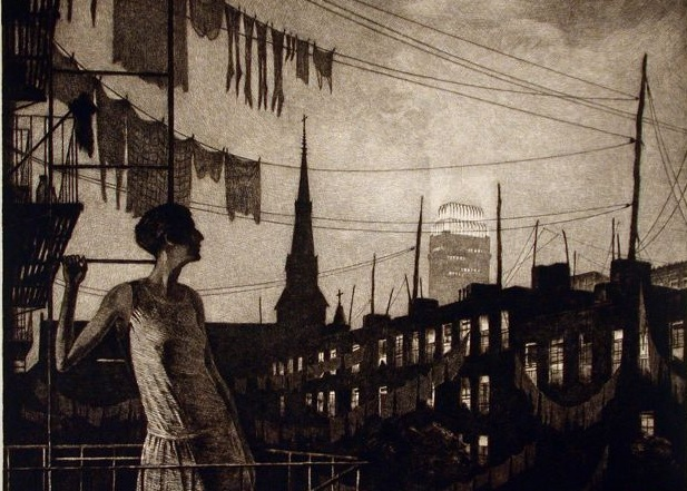 Martin Lewis,  The Glow of the City  (1929).