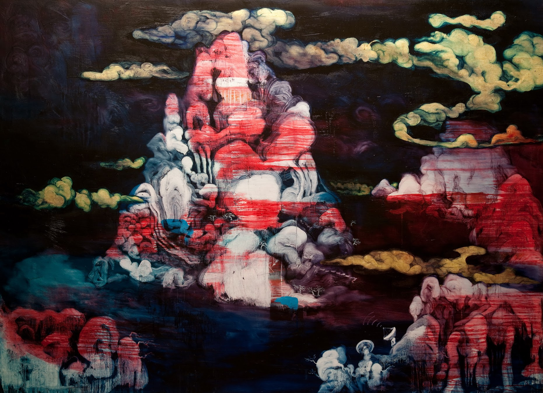 Chang-Ling,from  The Pork Belly Series: Flesh Landscape ,  2009,  oil on canvas, 145 x 200   cm. © Courtesy of InSian Gallery