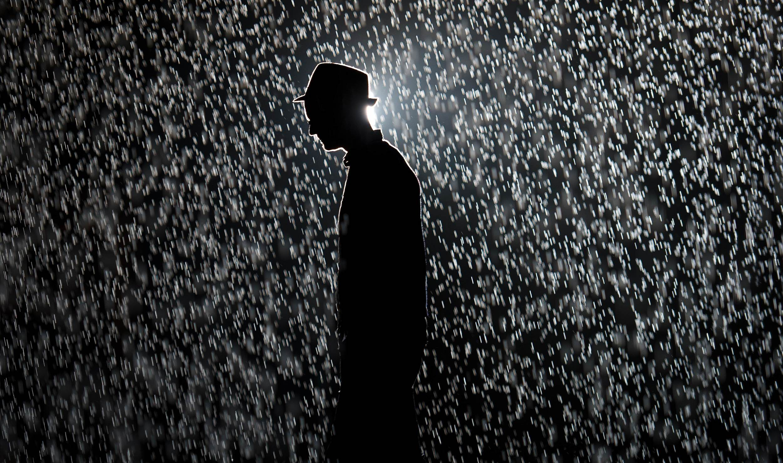 Rain Room  (2012), Random International, Photo: AFP/Leon Neal