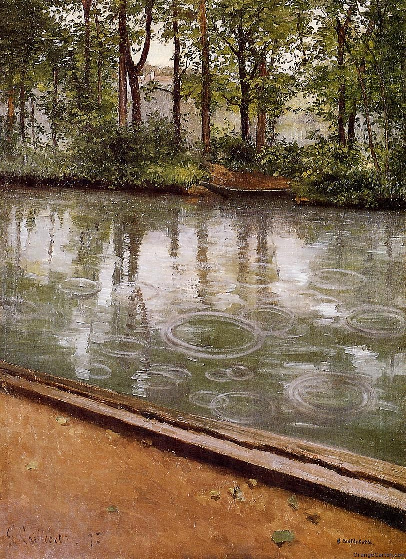 The Yerres, Effect of Rain  (1875), Gustave Caillebotte (1848 – 1894).