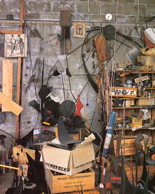 Pedro E. Guerrero,  Photograph of Alexander Calder's Roxbury, Connecticut studio,  1939-59.