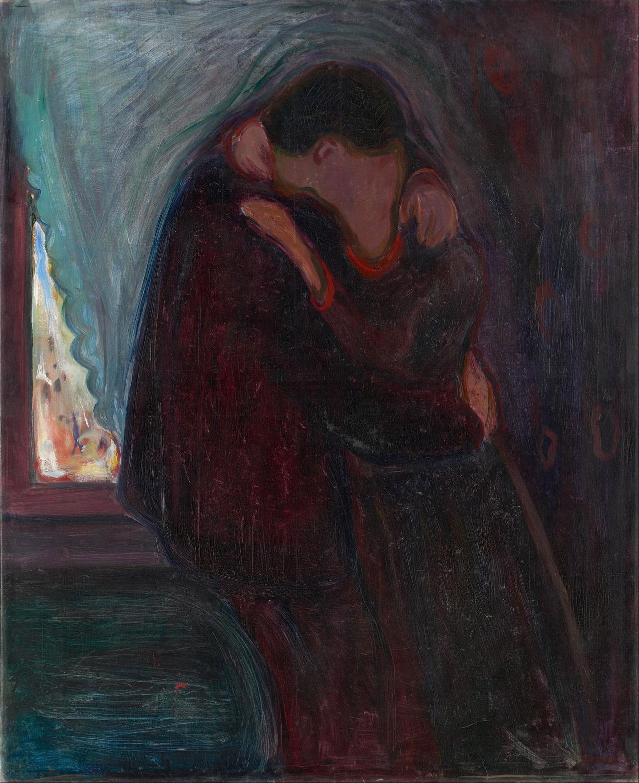 Edvard Munch,  The Kiss , 1897, oil on canvas,99 ×81 cm, © Munch-museet/Munch -Ellingsen Gruppen/Bono