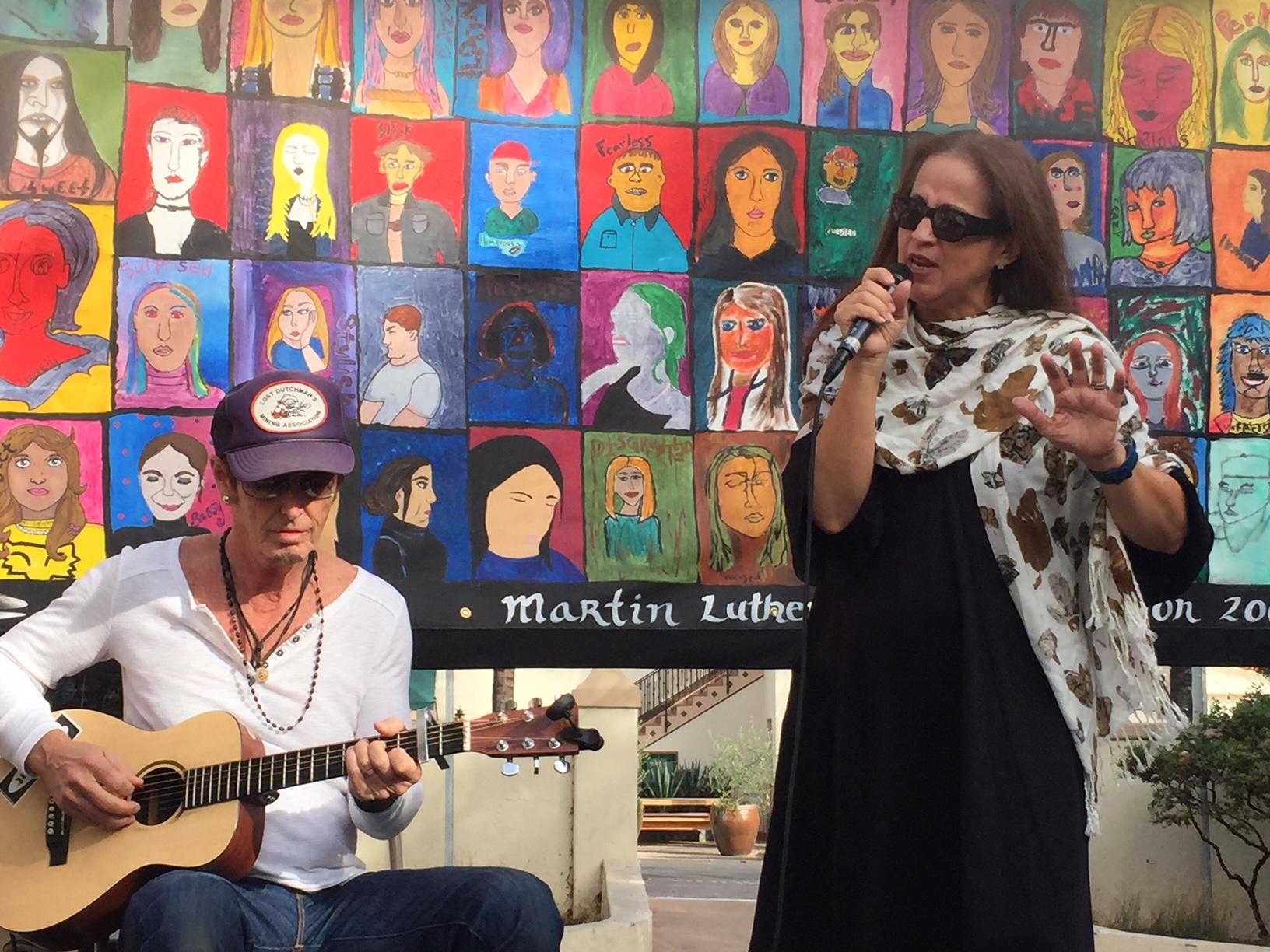 "Bernie Larsen and Perla Batalla performing Leonard Cohen's ""Bird On A Wire"""