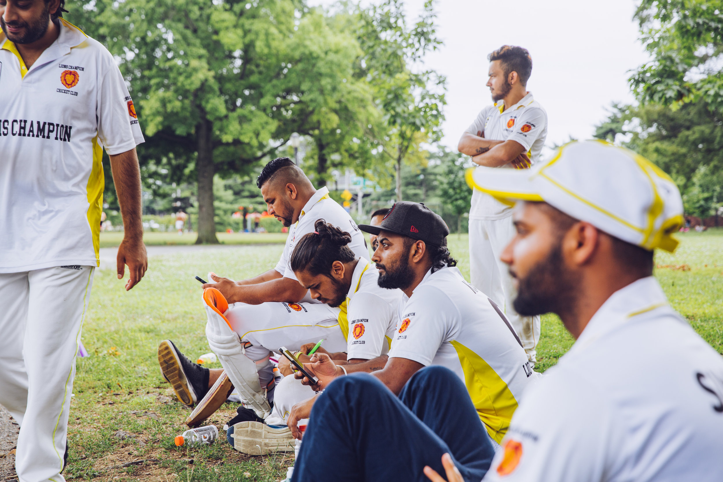 Cricket Players, Flushing Meadows Corona Park, Queens