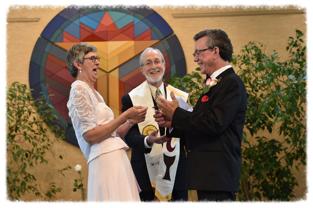 """If the ring fits, you must commit!""  Venue: Unitarian Universalist Church of Indianapolis"