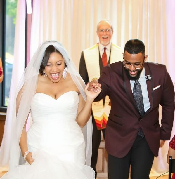 Launch your life together with a laugh!  Justin.and Ashley's story was a high point of their ceremony.  Photo: Beyond the Focus Photography