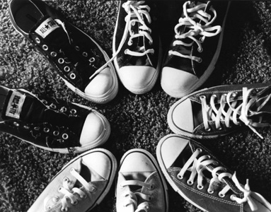 Ahh, Converse on black and white film. I developed this picture myself!