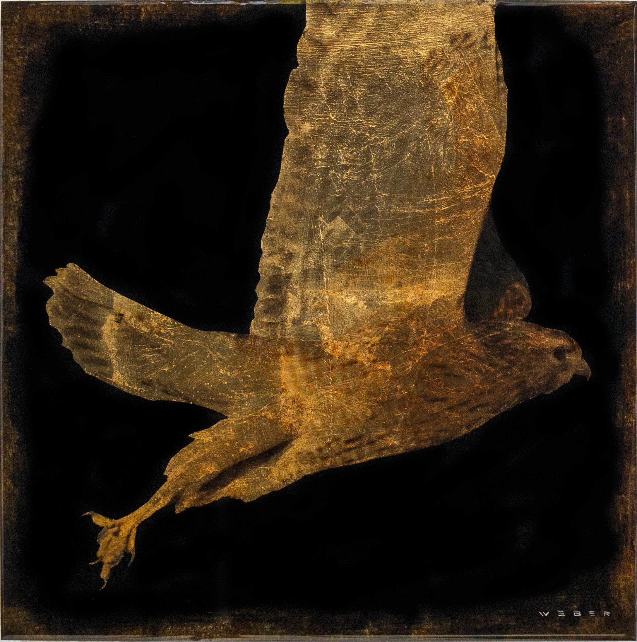 FLYING HAWK, 12 X 12