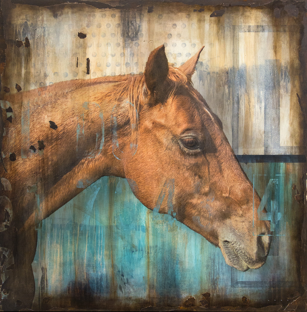 GINGER, 48 X 48, SOLD