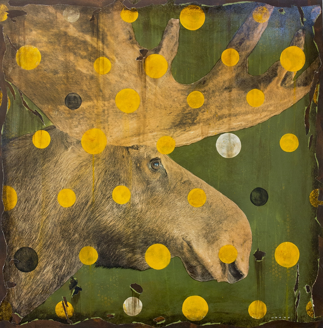 MOOSEY RIGHTY, 40 X 40, SOLD