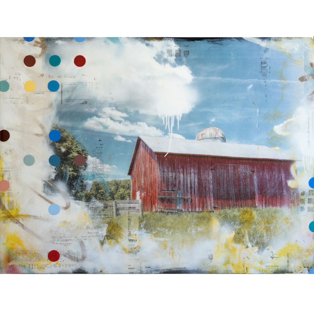 RED BARN, 48 X 36, SOLD