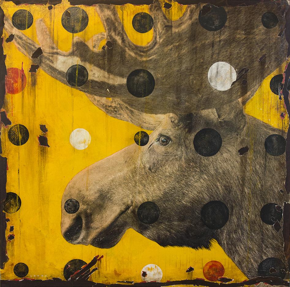 MOOSE LEFTY, 40 x 40, SOLD