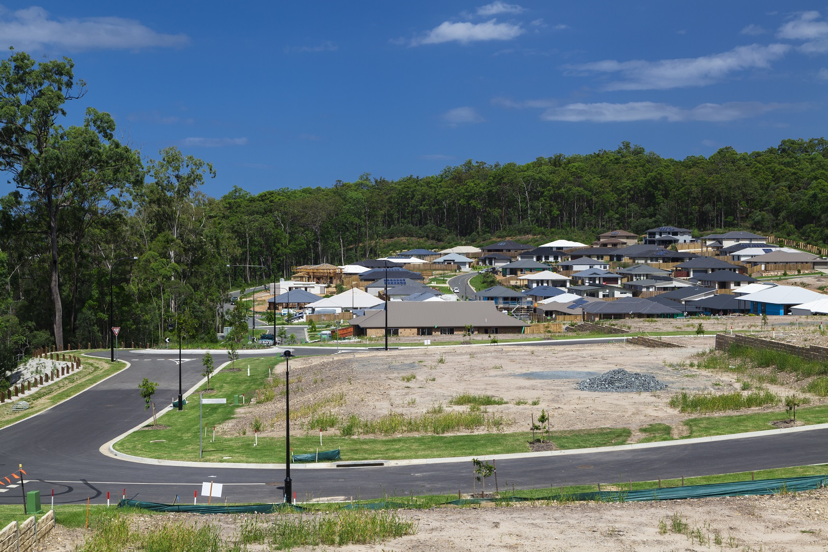 Population growth won't occur in a suburb until new supply is constructed. In many suburbs with large amounts of new construction, population growth will not be sufficient to fill all properties, meaning net demand is actually negative.