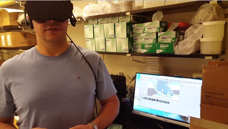 Exploring an image with Oculus Rift