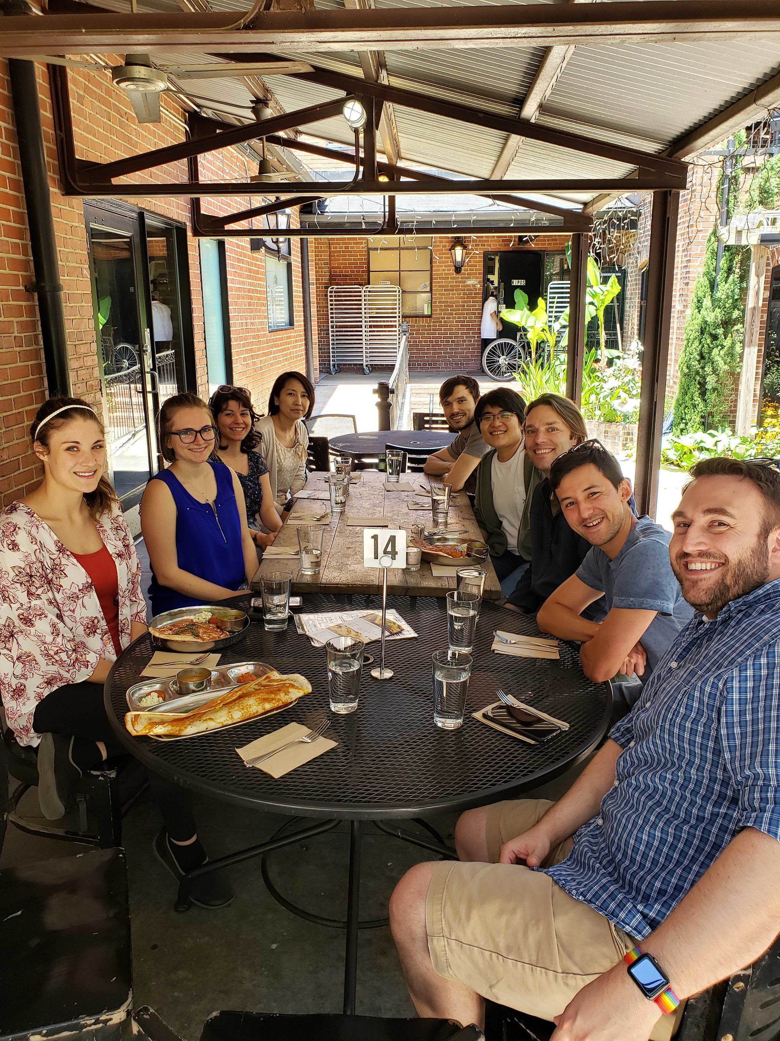 Lab lunch at Vimala's