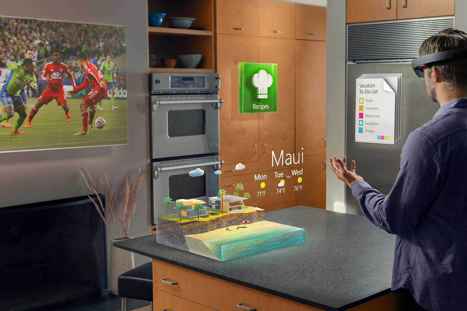 A shoutout to my compadres working on Hololens