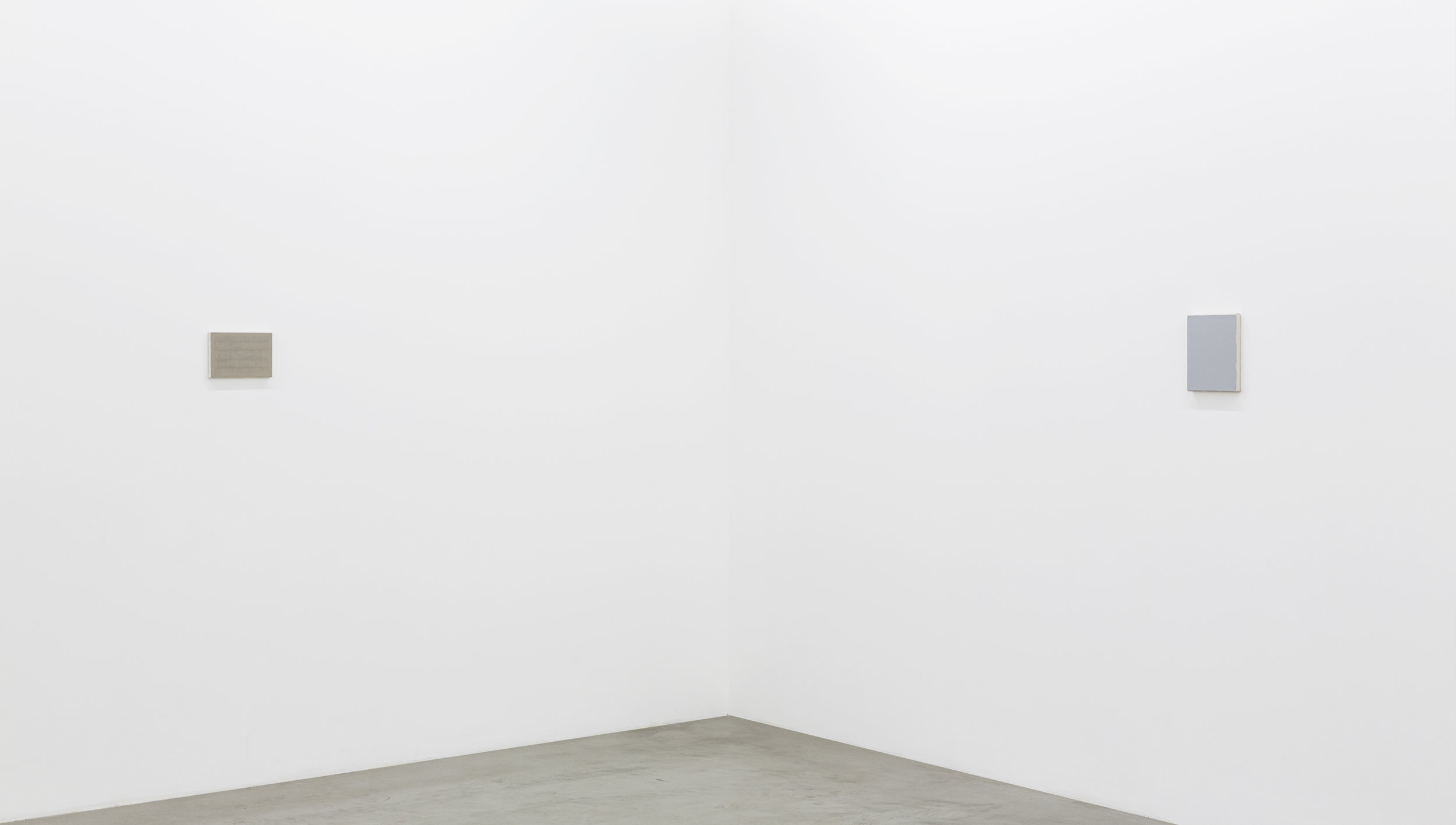 Installation view of Yui Yaegashi's small subtle works.