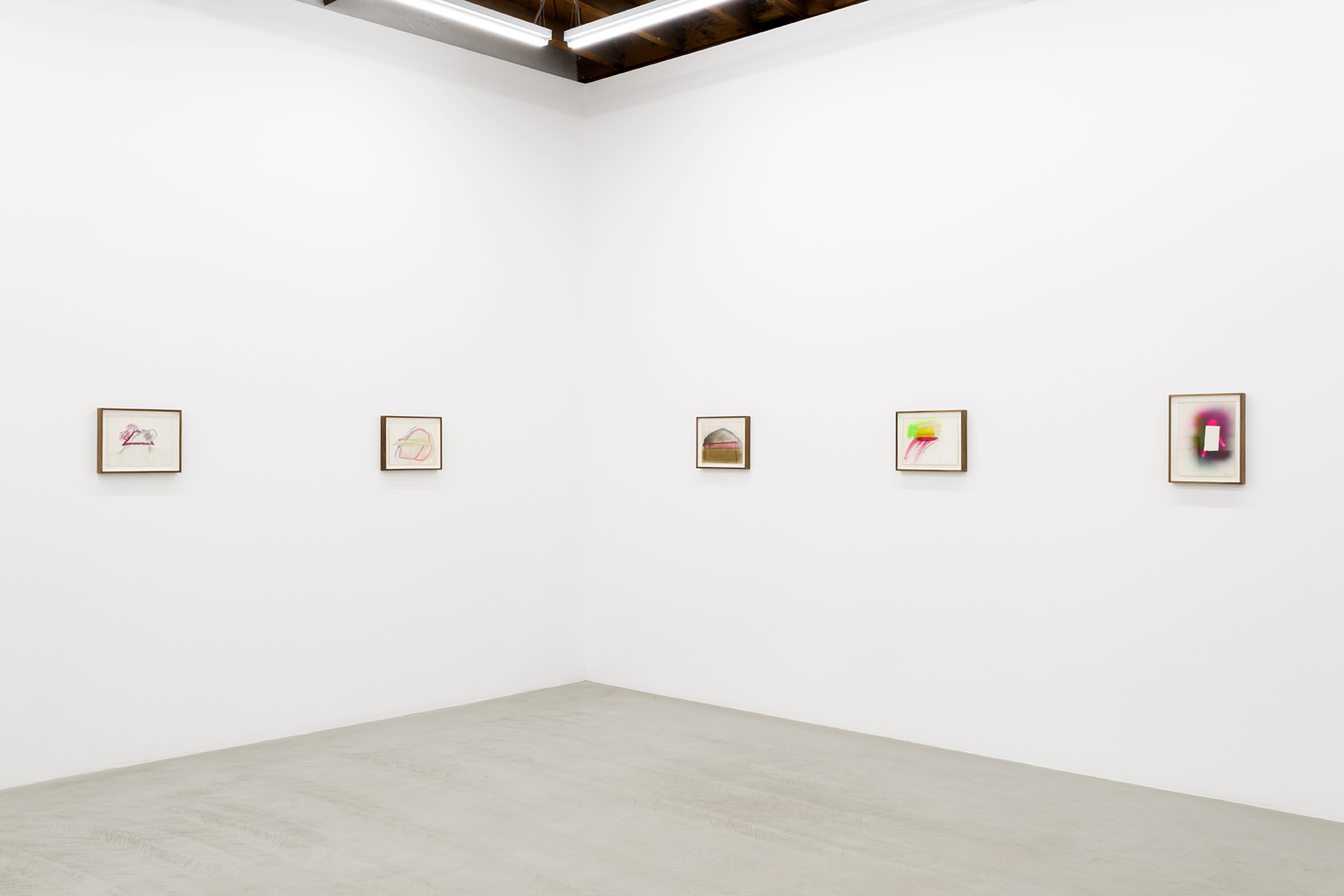 Installation view of Forrest Bess works painted from the artist's visions