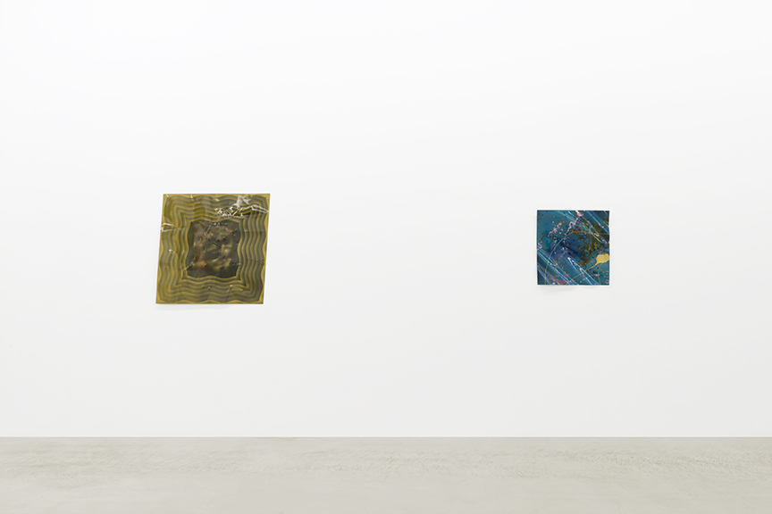 Installation view of Billy Al Bengston's Dentos series